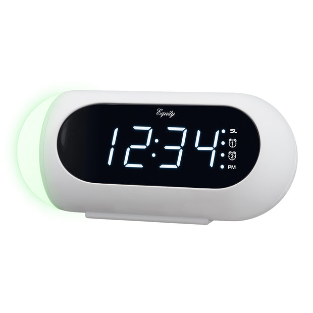 M80734 Clock Radio with Nature Sounds and Mood Light