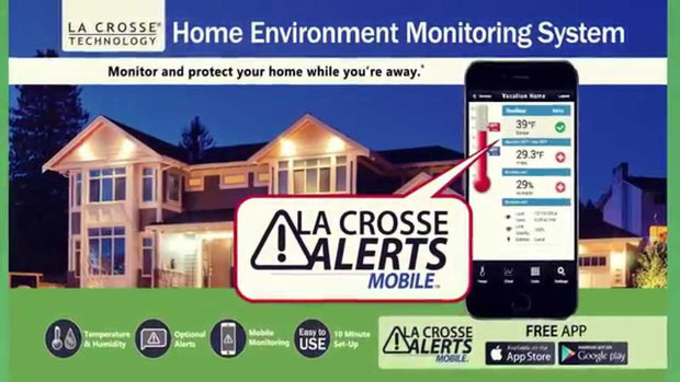 Add-On Temp/Humidity Sensor with Standard Wet Temp Probe for La Crosse Alerts Mobile System