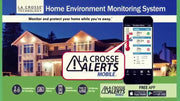 Add-On Remote Water Leak Detector with Temp/Humidity and Alerts for La Crosse Alerts Mobile