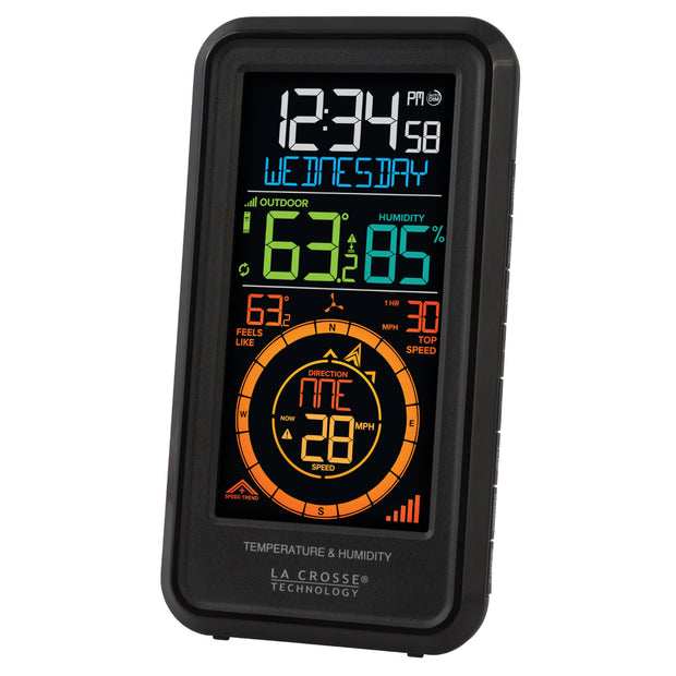 S81120 Wireless Weather Station with Temperature, Wind, & Humidity