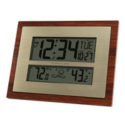 W86111V3 Atomic Digital Wall Clock with Forecast