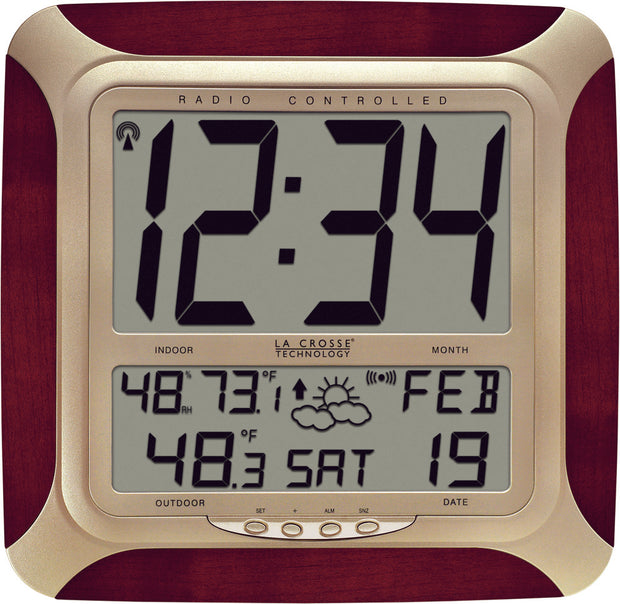WS-8249U-CH Atomic Digital Wall Clock