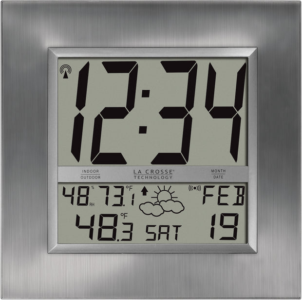 WS-8349U Atomic Digital Wall Clock