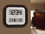 WS-8418U-IT Atomic Digital Wall Clock with Moon Phase
