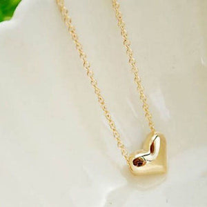 SUSENSTONE Gold Heart Necklace