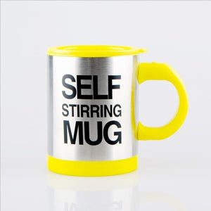 """Lazy boy"" 13.5oz mug for home or travel - perfectly stirred - no more lumps or mixed flavours"