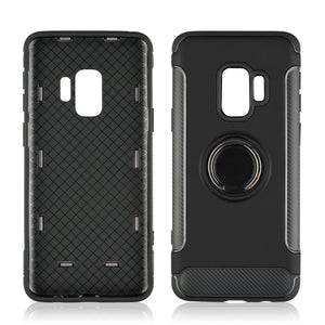 Hard PC Phone Cover 360 Rotate Ring Holder shockproof for Samsung Galaxy S8 S9 Plus
