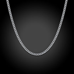 White Gold Plated Fiagro Chain