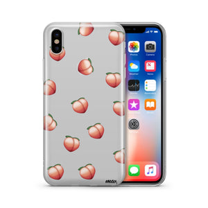 Peach Emoji - Clear TPU iPhone Case / Samsung Case Phone Cover