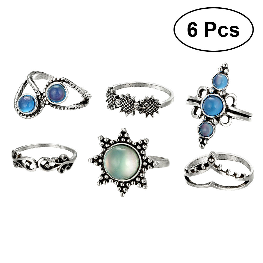 6pcs Boho Antique Knuckle Ring Set