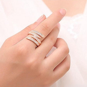 18K Gold Plated Angel Promise Ring