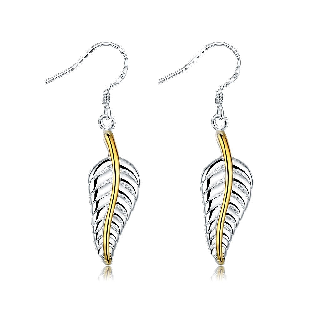 Doves feather earring