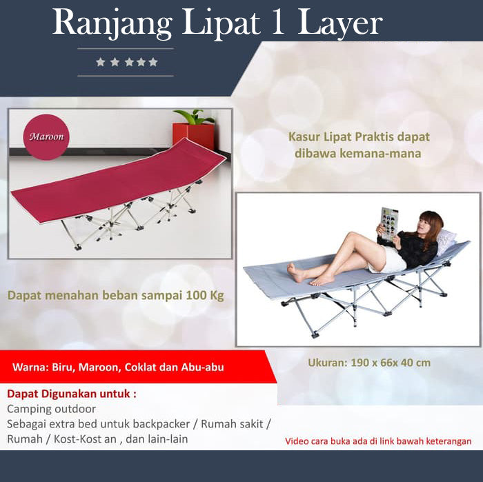 Ranjang Lipat 1 layer