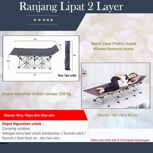 Ranjang Lipat 2 Layer