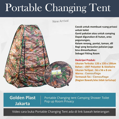 Portable Changing Tent (Tenda Ganti Baju Portable)