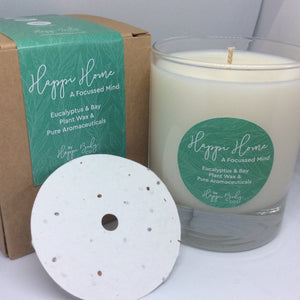 Aromatherapy Candle - A Focussed Mind - Eucalyptus & Bay