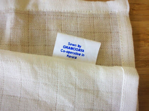 100% Organic cotton, cleansing cloth (pack of 3). GOTS certified.