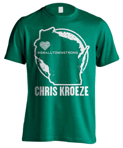 #SmallTownStrong Green T-Shirt
