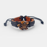 Handmade Leather Turtle Bracelet
