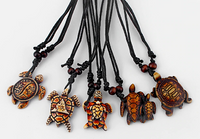 Ultimate Tribal Turtle Necklace Set All Brown