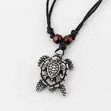 Ultimate Tribal Turtle Necklace Set of 8 - All White Design