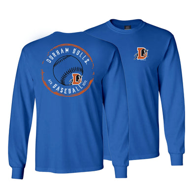 Durham Bulls Royal Stamp Long Sleeve