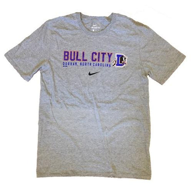 Durham Bulls Nike Gray Bull City T-Shirt