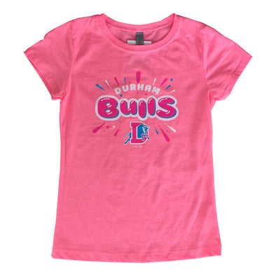 Durham Bulls Youth Neon Princess T-Shirt