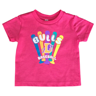 Durham Bulls Toddler Pink Mini-Bat T-Shirt