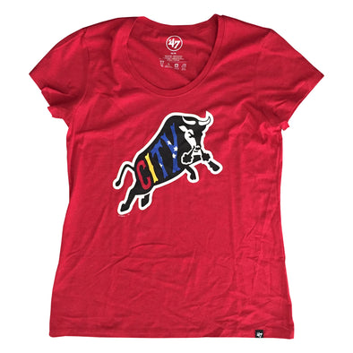Durham Bulls 47 Brand Womens Red Bull City Club