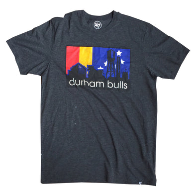 Durham Bulls 47 Brand Black Skyline Imprint Match Club T-Shirt