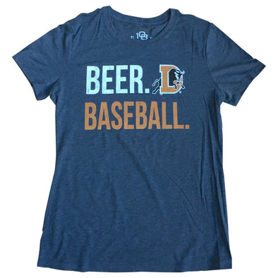 Durham Bulls 108 Womens Beer & Baseball T-Shirt