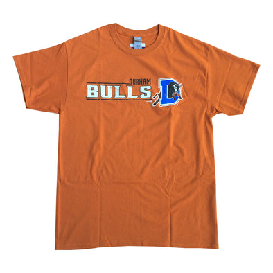 Durham Bulls Burnt Orange Farm Script Tshirt