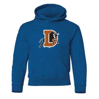 Durham Bulls Youth D Logo Hooded Sweatshirt