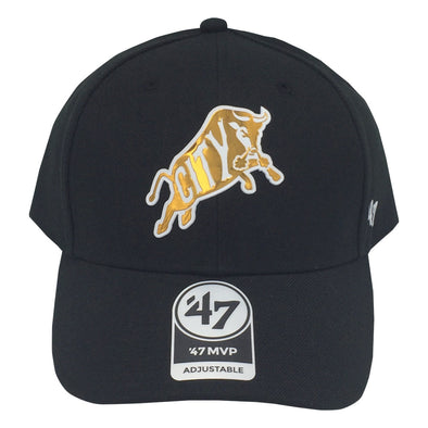 Durham Bulls 47 Brand Black & Gold Chrome