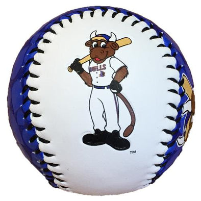 Durham Bulls Display Baseball Wool E. Bat