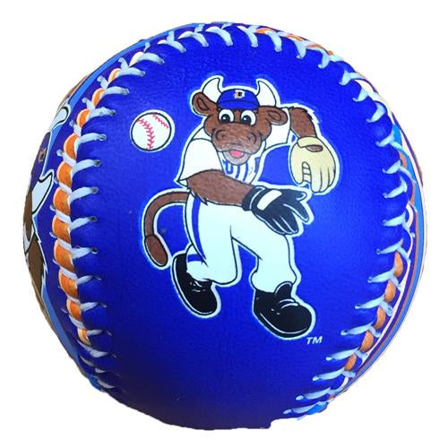 Durham Bulls Display Baseball Wool E. Bull Colors