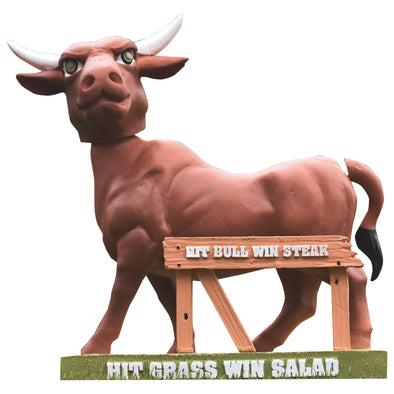 Durham Bulls Hit Bull Win Steak Bobblehead 2.0