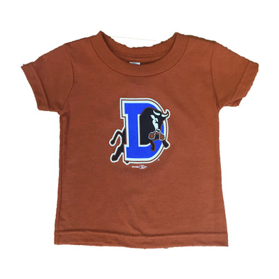 Durham Bulls Infant Burnt Orange T-Shirt