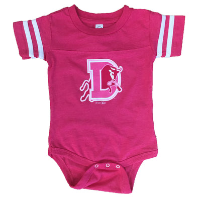 Durham Bulls Infant Pink Sporty Onesie
