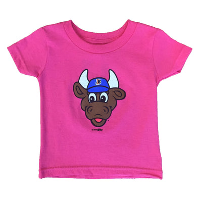 Durham Bulls Infant Pink Wool E. Bull T-Shirt