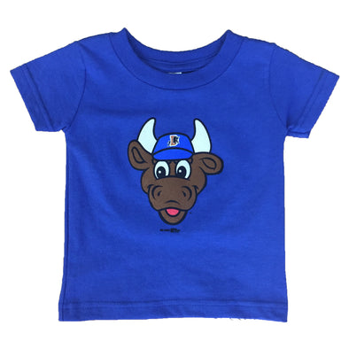 Durham Bulls Infant Royal Wool E. Bull T-Shirt