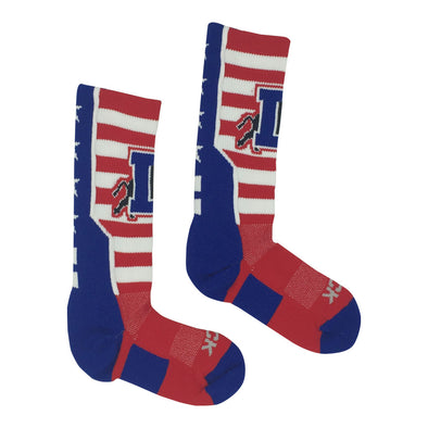 Durham Bulls Red White & Blue Socks