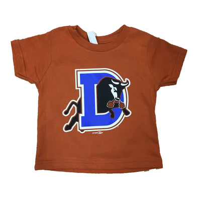 Durham Bulls Toddler Burnt Orange D Logo T-Shirt
