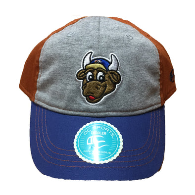 Durham Bulls Toddler Orange Bat Boy Cap