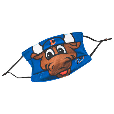 Durham Bulls Youth Wool E. Bull Adjustable Face Mask