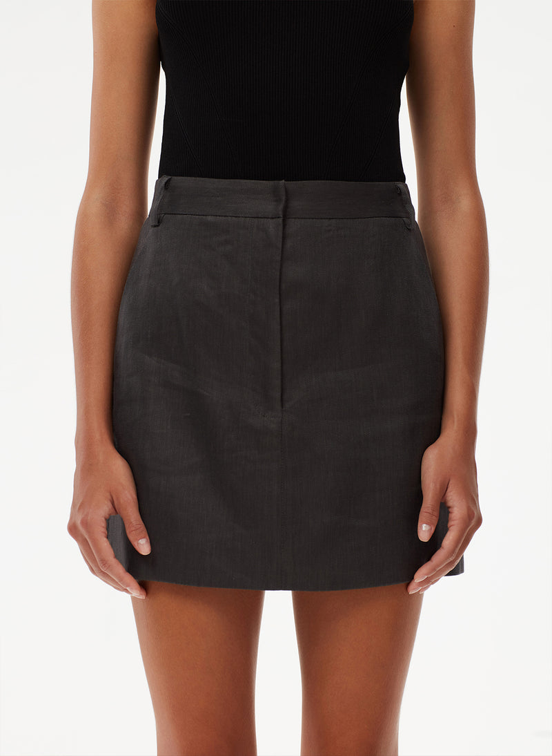Wesson Linen High Waisted Mini Skirt Wesson Linen High Waisted Mini Skirt