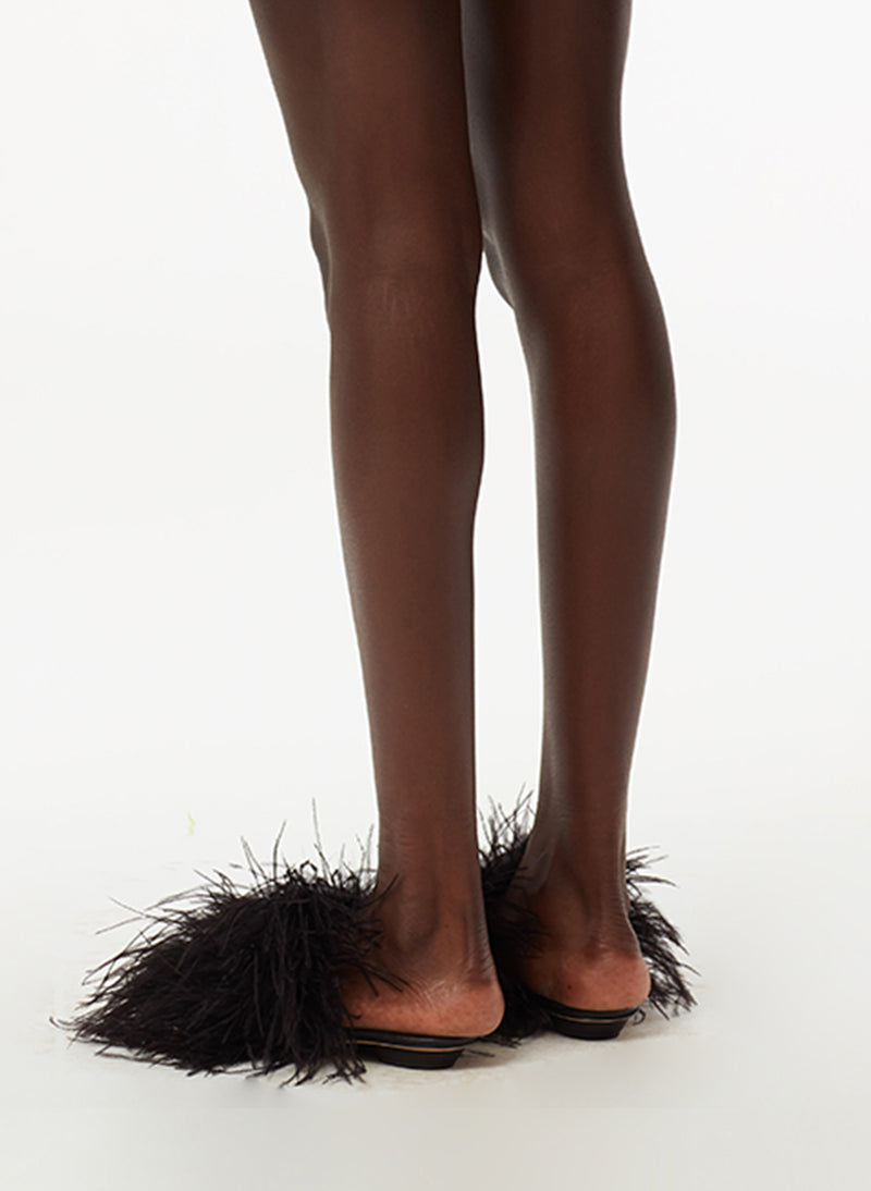 Han Ostrich Feather Sandal Han Ostrich Feather Sandal