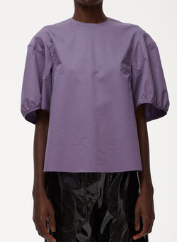 Eco Poplin Balloon Sleeve Top Eco Poplin Balloon Sleeve Top
