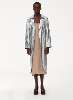 Metallic Nylon Trench Metallic Nylon Trench